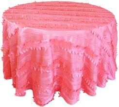 "132"" Round Forest Taffeta Tablecloths - Coral 67006(1pc/pk)"