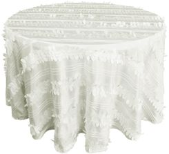 "132"" Round Forest Taffeta Tablecloths - Ivory  67002(1pc/pk)"