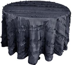 "132"" Round Forest Taffeta Tablecloths - Pewter 67060(1pc/pk)"