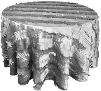 """132"""" Round Forest Taffeta Tablecloths - Silver 67040(1pc/pk)"""