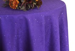 "132"" Round Paillette Poly Flax / Burlap Tablecloth - Regency 10963 (1pc/pk)"