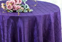 "132"" Round Pintuck Taffeta Tablecloth - Regency 60063(1pc/pk)"