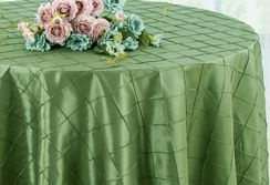 "132"" Round Pintuck Taffeta Tablecloth - Clover 60048(1pc/pk)"