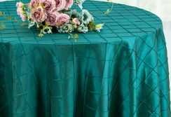 "132"" Round Pintuck Taffeta Tablecloth - Oasis 60058(1pc/pk)"