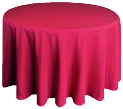 "132"" Round Polyester Tablecloth - Apple Red 51708(1pc/pk)"