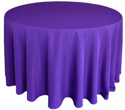 "132"" Round Polyester Tablecloth - Regency 51763(1pc/pk)"