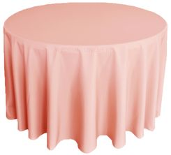 "132"" Round Polyester Tablecloth - Rose 51707(1pc/pk)"