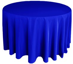"132"" Round Polyester Tablecloth - Royal Blue 51722(1pc/pk)"