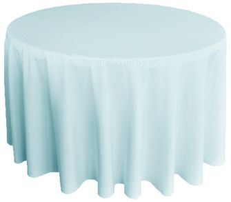 "132"" Heavy Duty (200 GSM) Round Polyester Tablecloths (25 Colors)"