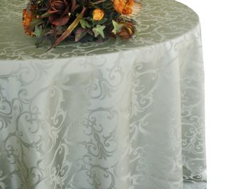 """132"""" Round Versailles Chopin Damask Jacquard Polyester Tablecloths (14 colors)"""