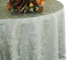 "132"" Round Versailles Chopin Damask Jacquard Polyester Tablecloths (14 colors)"