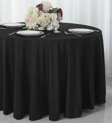 "132"" Round Scuba(Wrinkle-Free) Tablecloths (7 Color)"
