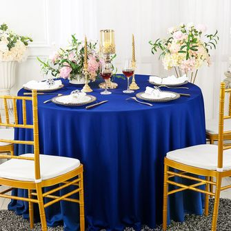 """132"""" Round Scuba(Wrinkle-Free) Tablecloths (13 Colors)"""
