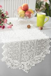 "16"" x 108"" Vintage Chantilly Lace Embroidered Table Runner - Ivory 90402 (1pc/pk)"