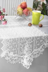 "16"" x 108"" Vintage Chantilly Lace Table Runner - White 90401 (1pc/pk)"