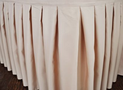 17' Accordion Pleat Polyester Table Skirts (15 colors)