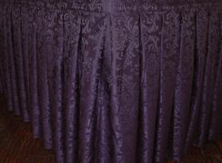 17' Damask Jacquard Polyester Table Skirts (13 colors)