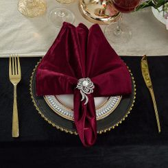 "20"" x 20"" Italian Velvet Table Napkins ( 5 Colors )"