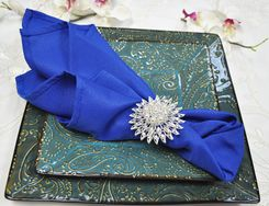 "20"" x 20"" Polyester Napkins - Royal Blue 51322 (10pcs/pk)"