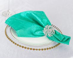 "20""x 20"" Crushed Taffeta Table Napkins -Tiff Blue / Aqua Blue 61318 (10pcs/pk)"