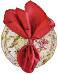 "20""x20"" Crushed Taffeta Napkin - Apple Red 61308(1pc)"