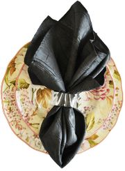 "20""x20"" Crushed Taffeta Napkin -Black61339(1pc)"