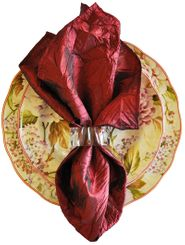 "20""x20"" Crushed Taffeta Napkin - Burgundy61310(1pc)"