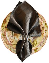 "20""x20"" Crushed Taffeta Napkin - Chocolate61391(1pc)"