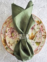 "20""x20"" Crushed Taffeta Napkin - Clover 61348(1pc)"
