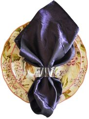 "20""x20"" Crushed Taffeta Napkin - Eggplant61345(1pc)"