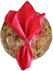 "20""x20"" Crushed Taffeta Napkin - Fuchsia61309(1pc)"