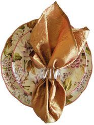 "20""x20"" Crushed Taffeta Napkin - Gold61327(1pc)"