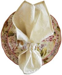 "20""x20"" Crushed Taffeta Napkin - Ivory61302(1pc)"