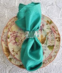 "20""x20"" Crushed Taffeta Napkin - Jade 61326(1pc)"
