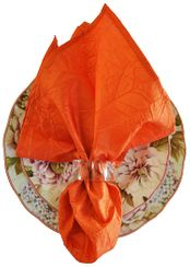 "20""x20"" Crushed Taffeta Napkin - Orange61333(1pc)"