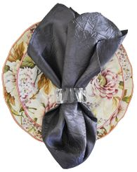 "20""x20"" Crushed Taffeta Napkin - Pewter61360(1pc)"