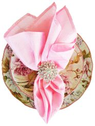 "20""x20"" Crushed Taffeta Napkin - Pink 61305(1pc)"