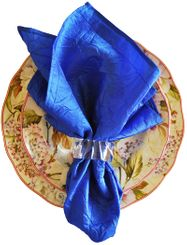 "20""x20"" Crushed Taffeta Napkin - Royal61322(1pc)"
