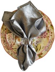 "20""x20"" Crushed Taffeta Napkin - Silver61340(1pc)"