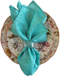 "20""x20"" Crushed Taffeta Napkin - Tiff Blue / Aqua Blue 61318(1pc)"