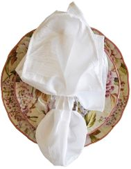 "20""x20"" Crushed Taffeta Napkin - White61301(1pc)"