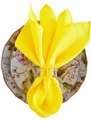"20""x20"" Crushed Taffeta Napkin - Canary Yellow 61316(1pc)"