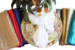 "20""x20"" Crushed Taffeta Table Napkins Sample Lot (31 Colors)"