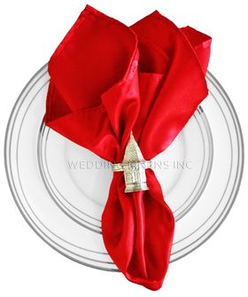 "20""x20"" Heavy Duty Satin Napkin - Red 71912(1pc)"