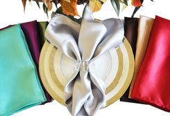 "20""x20"" Heavy Duty Satin Table Napkins (38 Colors)"