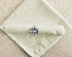 "20""x20"" Marquis Jacquard Polyester Napkin- 98002 Ivory (1pc)"