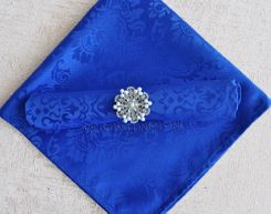 "20""x20"" Marquis Jacquard Polyester Napkin- 98022 Royal Blue (1pc)"