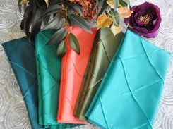 "20""x20"" Pintuck Taffeta Napkins (28 Colors)"