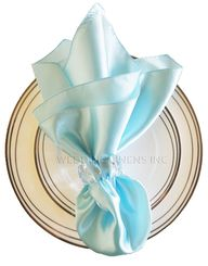 "20""x20"" Satin Napkins - Baby Blue 71820 (10pcs/pk)"