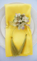 "20""x20"" Satin Napkins - Canary Yellow 71816 (10pcs/pk)"
